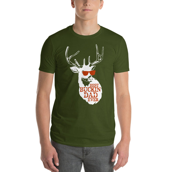 Best Buckin Dad Ever Short-Sleeve T-Shirt | hunting dad , Fathers day gift, Dad shirt