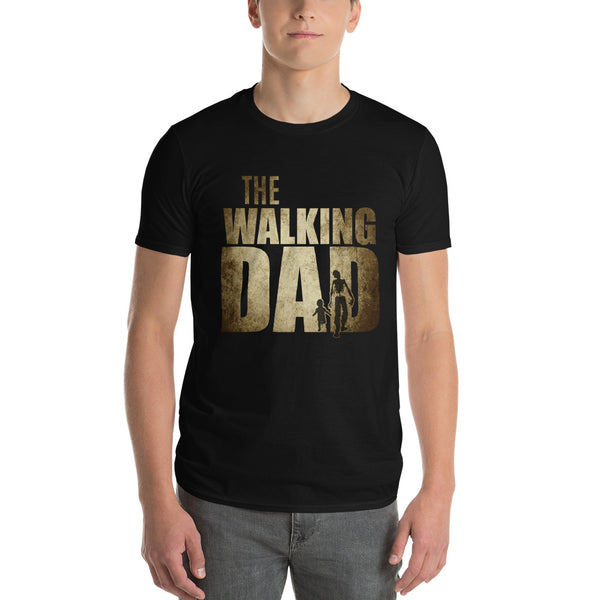 Walking Dad Funny Shower Gift Father's Day T-shirt Black / 3XL / Men T-Shirt BelDisegno