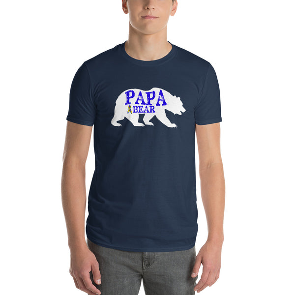 Autism Dad Gift | Autism Papa Bear Short-Sleeve T-Shirt | Gift for father of autistic child | Autism Awareness Lake / 3X T-Shirt BelDisegno