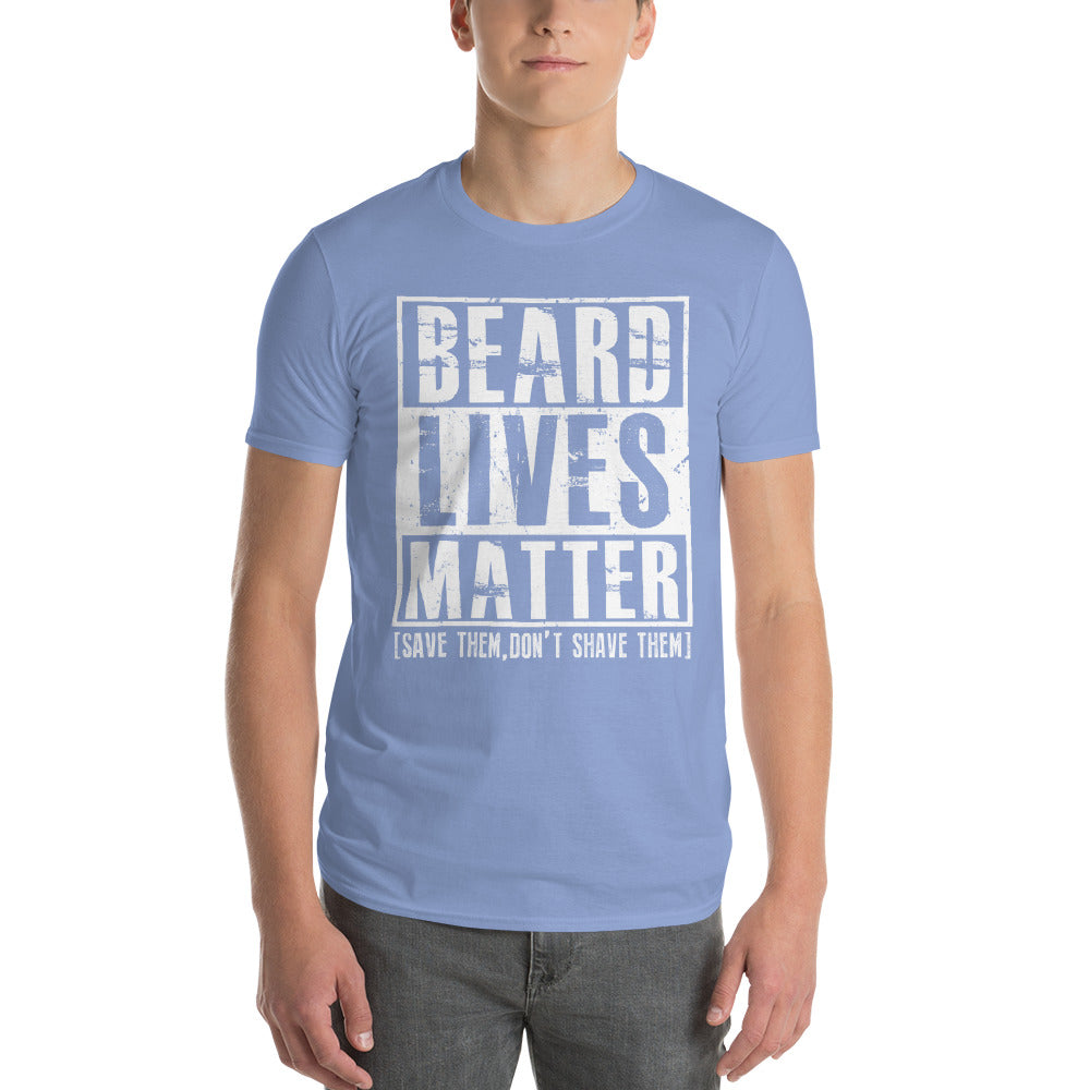 Beard Lives Matter T-shirt Funny Beard Shirt Color: Light BlueSize: S