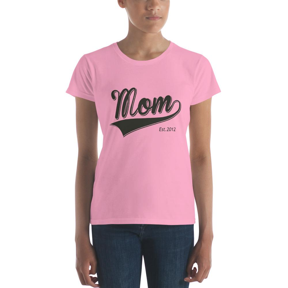 Mom Est 2012 Mother Day Gift for New mom Established T-shirt CharityPink / 2XL T-Shirt BelDisegno