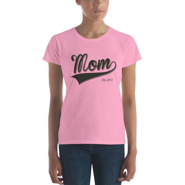 Mom Est 2013 Mother Day Gift for New mom Established T-shirt CharityPink / 2XL T-Shirt BelDisegno