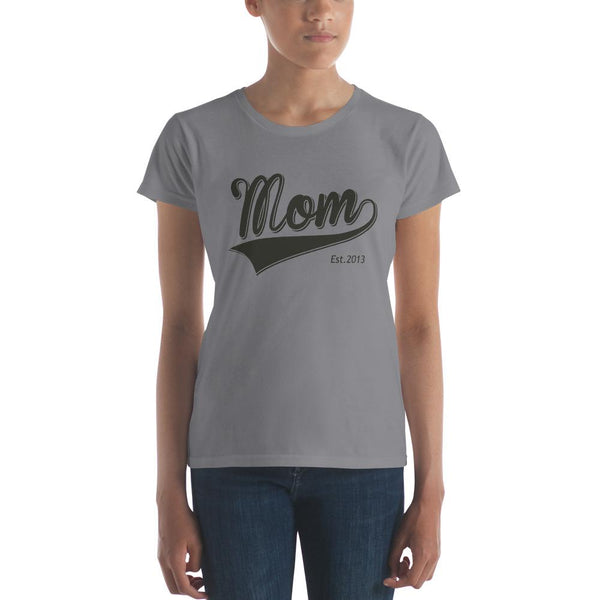 Mom Est 2013 Mother Day Gift for New mom Established T-shirt Storm Grey / 2XL T-Shirt BelDisegno