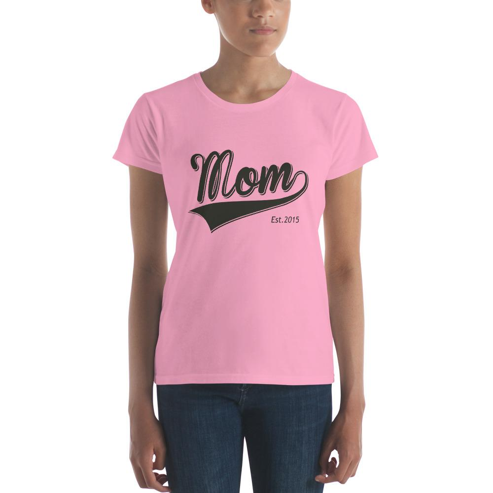 Mom Est 2015 Mother Day Gift for New mom Established T-shirt CharityPink / 2XL T-Shirt BelDisegno