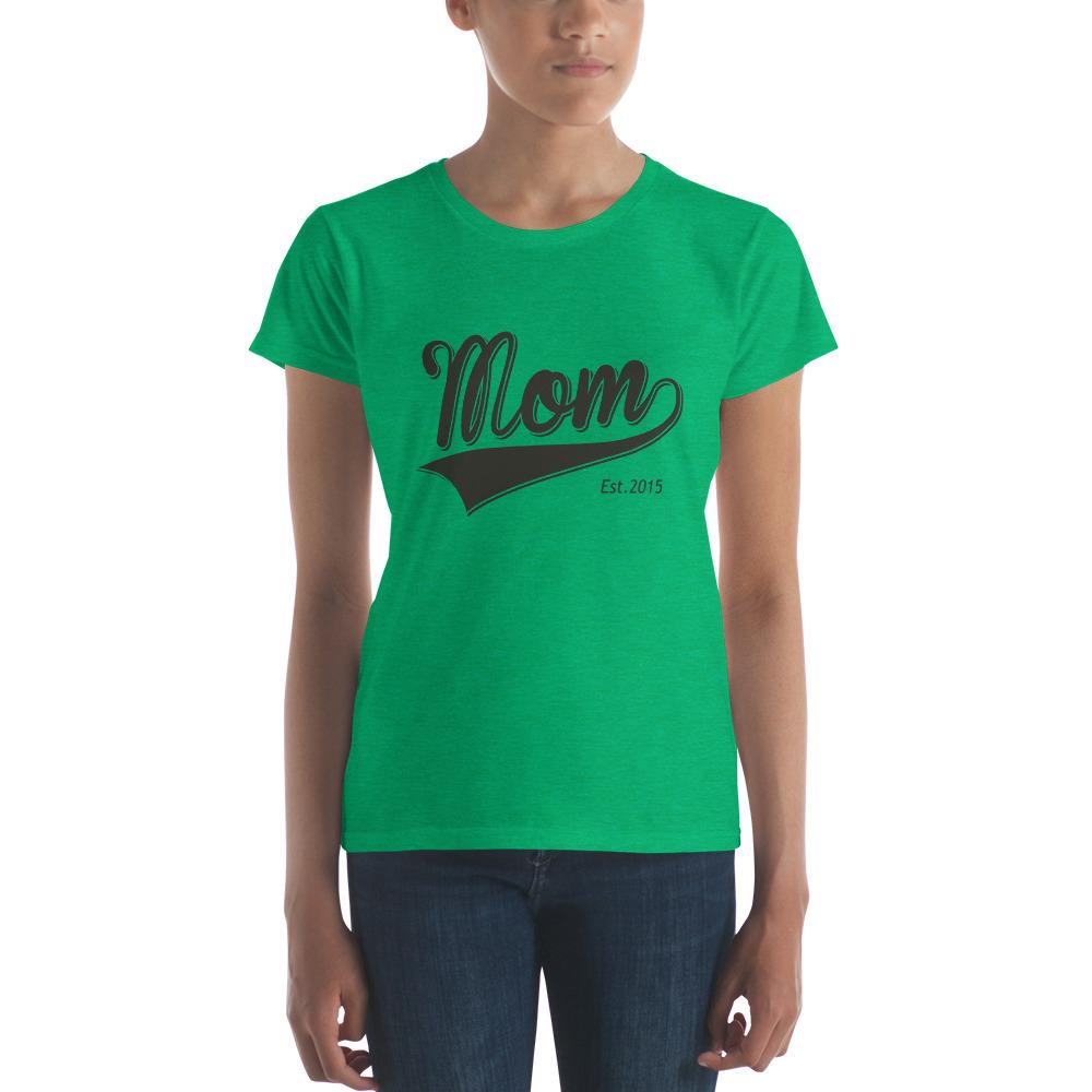 Mom Est 2015 Mother Day Gift for New mom Established T-shirt Heather Green / 2XL T-Shirt BelDisegno