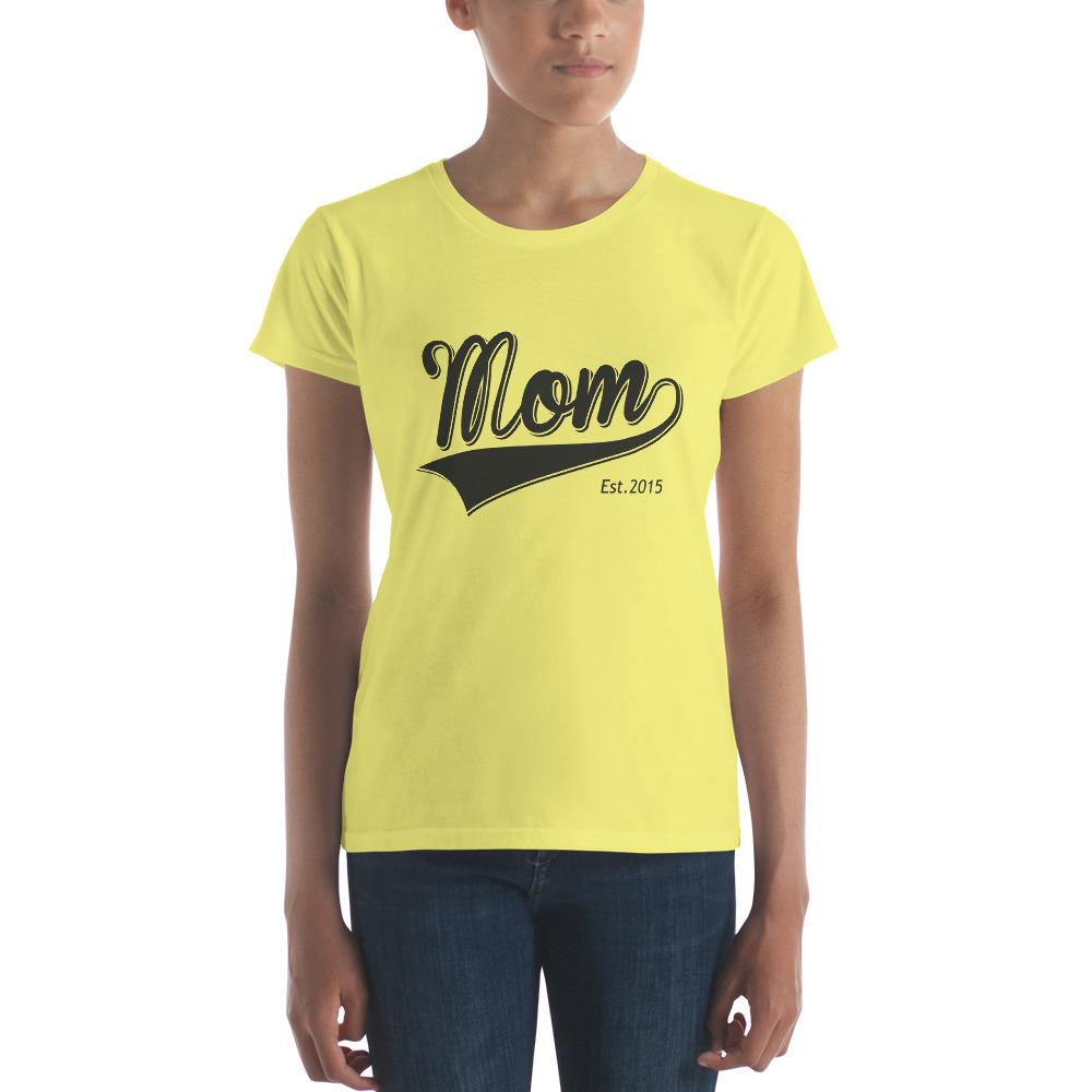 Mom Est 2015 Mother Day Gift for New mom Established T-shirt Spring Yellow / 2XL T-Shirt BelDisegno