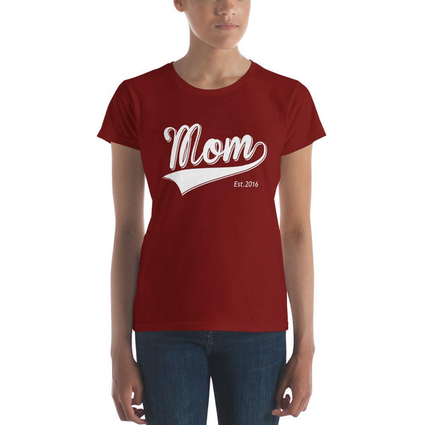Mom Est 2016 Mother Day Gift for New mom Established TShirt-T-Shirt-BelDisegno-Independence Red-S-BelDisegno