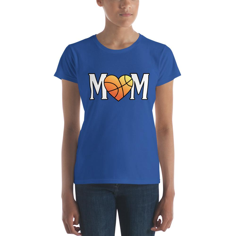 Mom Heart Love Basketball Women TShirt-T-Shirt-BelDisegno-Royal Blue-S-BelDisegno