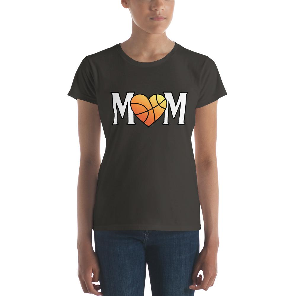 Mom Heart Love Basketball Women TShirt-T-Shirt-BelDisegno-Smoke-S-BelDisegno