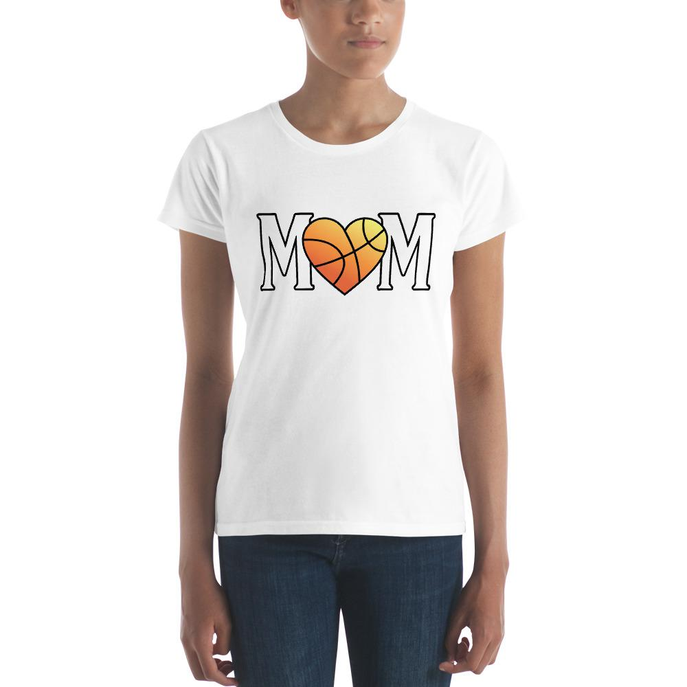 Mom Heart Love Basketball Women TShirt-T-Shirt-BelDisegno-White-S-BelDisegno