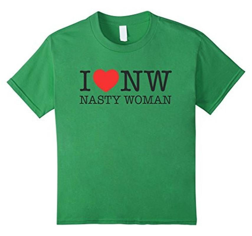 Nasty Woman T-shirt Green / XL / Women T-Shirt BelDisegno