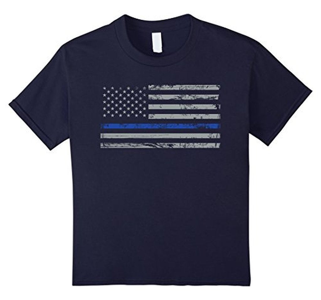 Navy Lives Matter Thin Blue Lives Line Flag T-shirt Navy / 3XL T-Shirt BelDisegno