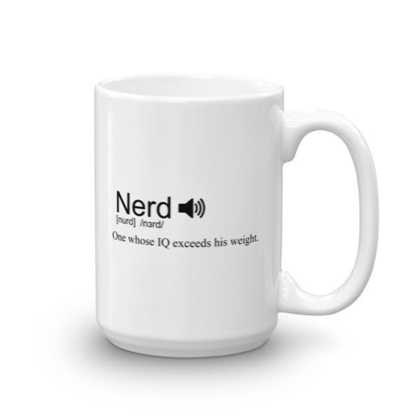 Nerd definition Coffee Mug 15oz Mug BelDisegno