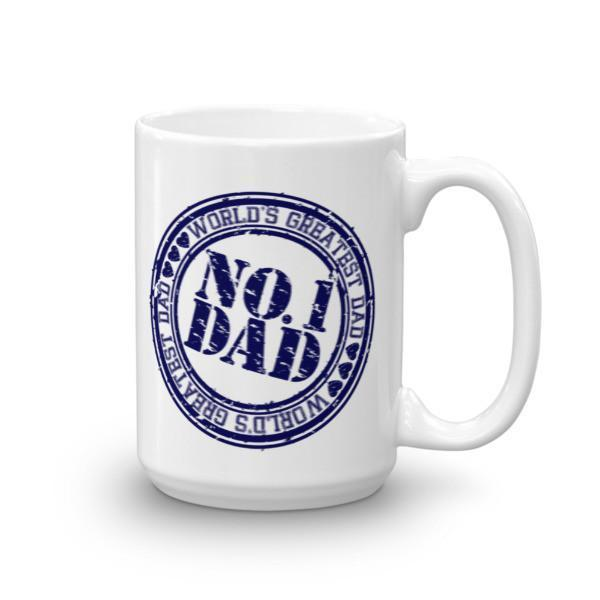 NO.1 Dad , World's Greatest Dad Coffee Mug 15oz Mug BelDisegno