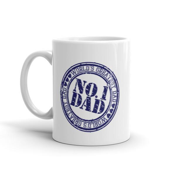 NO.1 Dad , World's Greatest Dad Coffee Mug  Mug BelDisegno