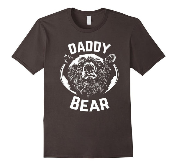 PAPA Bear father's day new papa Daddy T-shirt Asphalt / 3XL T-Shirt BelDisegno