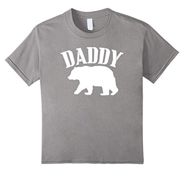 PAPA Bear father's day new papa Daddy T-shirt Heather Grey / 3XL T-Shirt BelDisegno