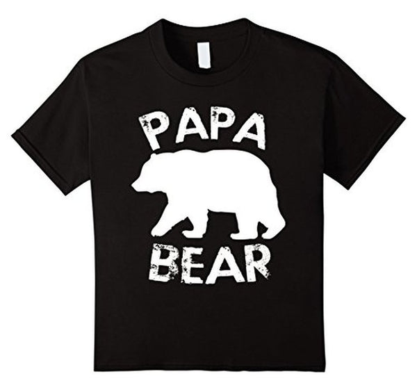PAPA BEAR T-shirt Black / 3XL T-Shirt BelDisegno