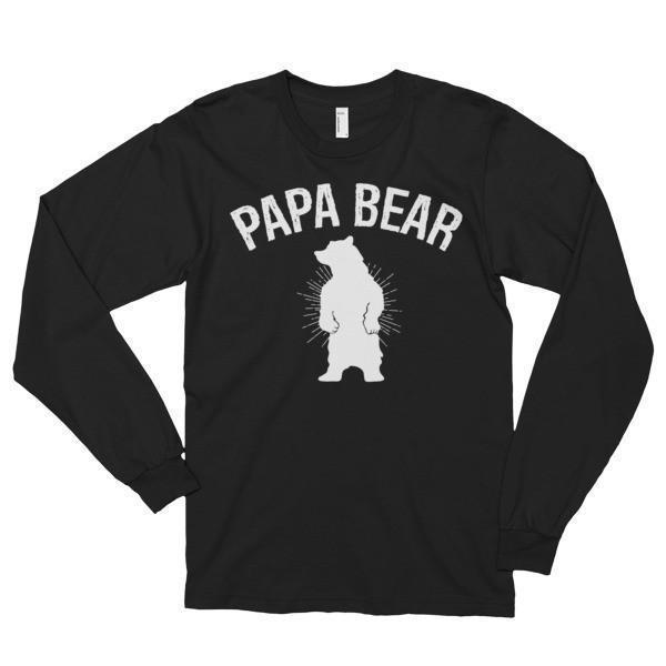Papa bear T-shirt Black / 2XL T-Shirt BelDisegno
