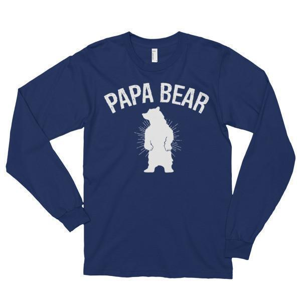 Papa bear T-shirt Navy / 2XL T-Shirt BelDisegno