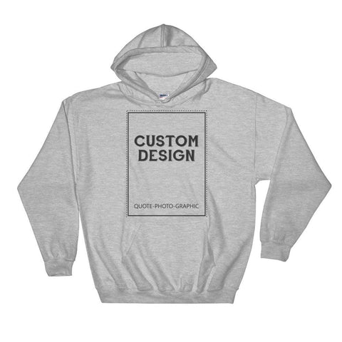 Personalized Hooded Sweatshirt - 3XL - 4XL -5XL-Hoodies-BelDisegno-BelDisegno