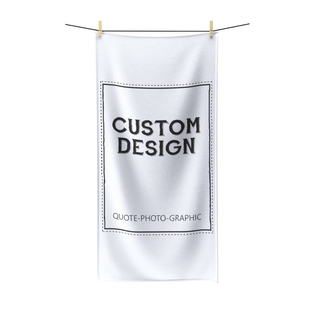 Personalized Poly cotton Towel - Custom Beach Towel - Funny towel  Towels BelDisegno