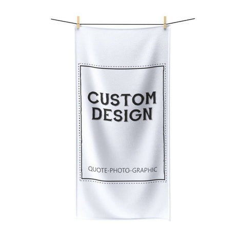 Personalized Polycotton Towel - Custom Beach Towel - Funny towel with name / Photo / cartoon / clip art / Graphic and quote-Towels-Printify-30x60-BelDisegno