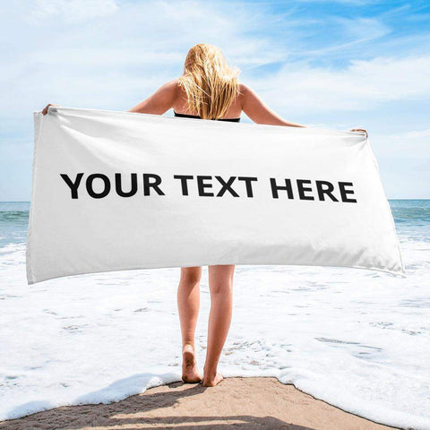Personalized Towels Beach - Towel Gift with saying picture Photo for Adult girls boys-Towels-BelDisegno-BelDisegno