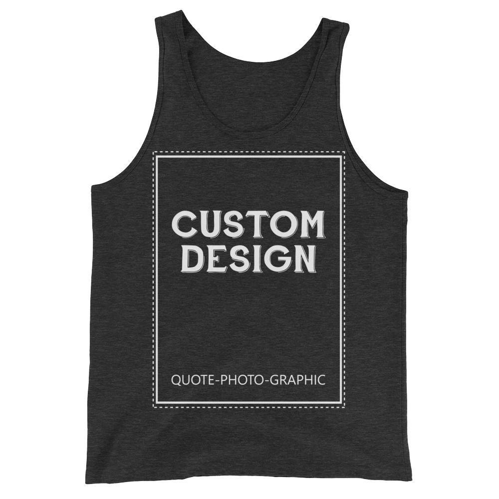 e667969681 Personalized Unisex Tank Top - Design your own tank Tank Top BelDisegno