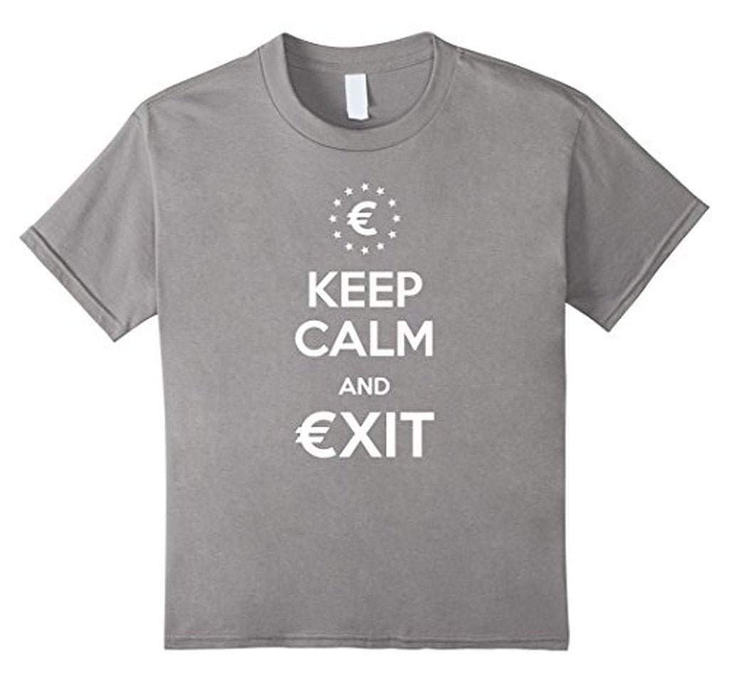Keep Calm and Exit European Union Brexit T-shirt Heather Grey / 3XL T-Shirt BelDisegno