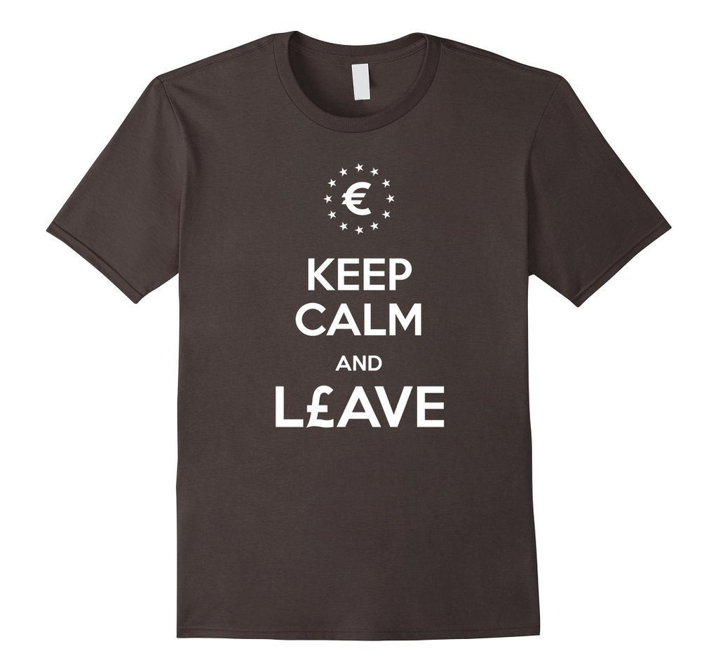Keep Calm and leave European Union Brexit T-shirt asphalt / 3XL T-Shirt BelDisegno