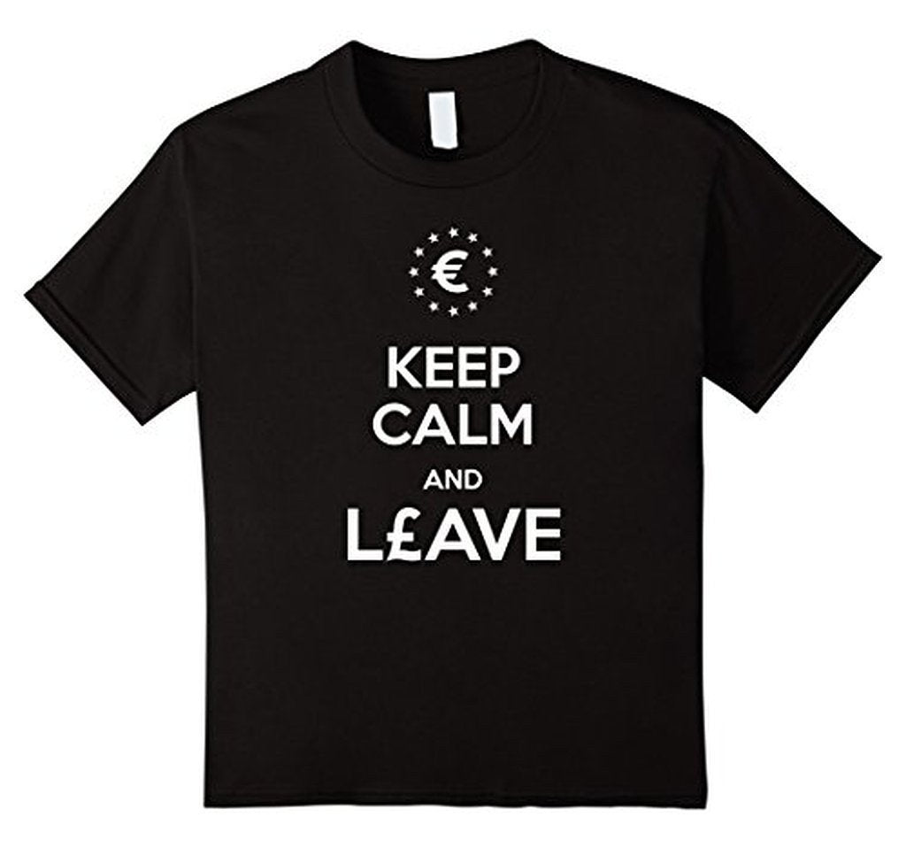 Keep Calm and leave European Union Brexit T-shirt Black / 3XL T-Shirt BelDisegno