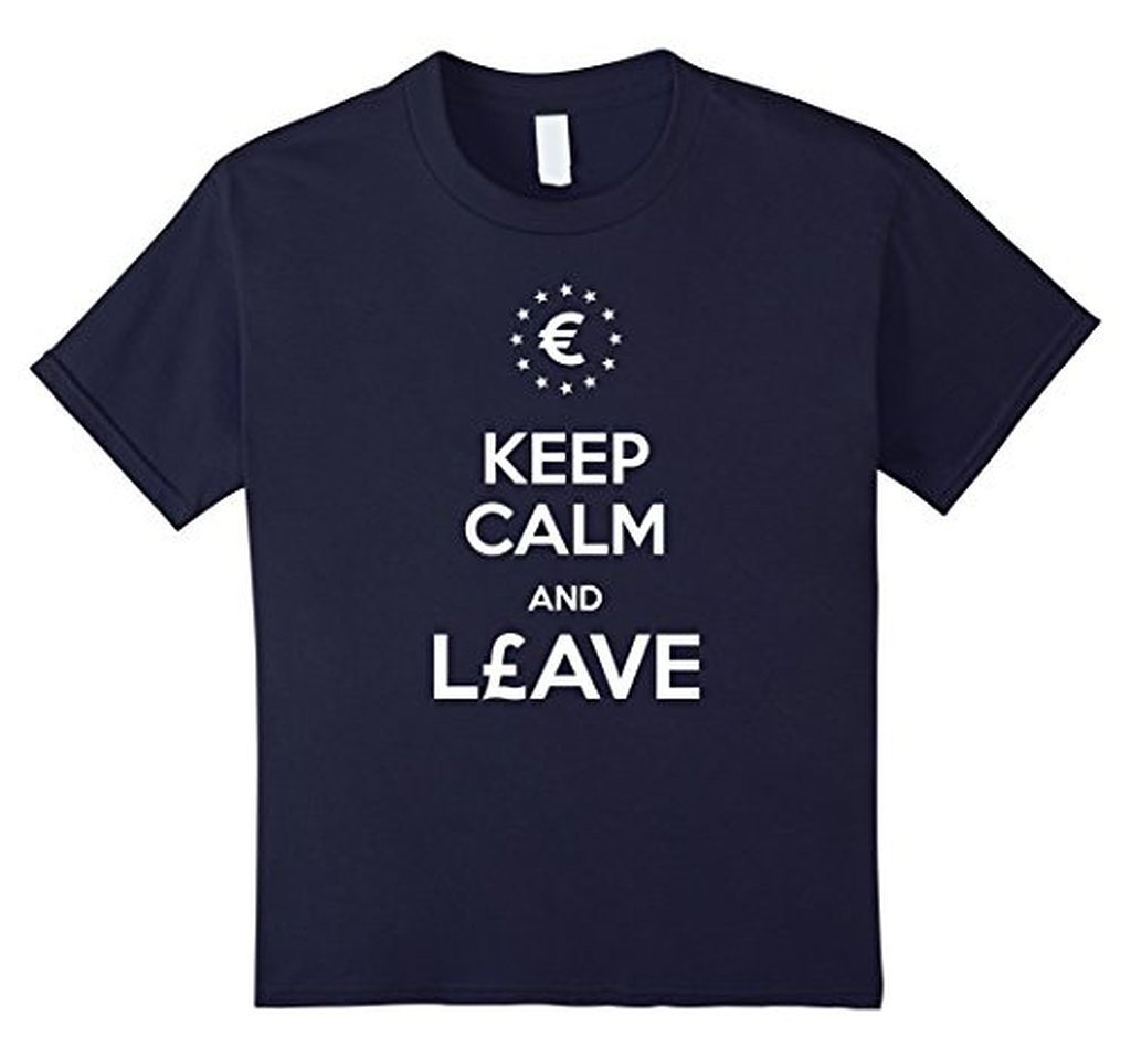 Keep Calm and leave European Union Brexit T-shirt Navy / 3XL T-Shirt BelDisegno