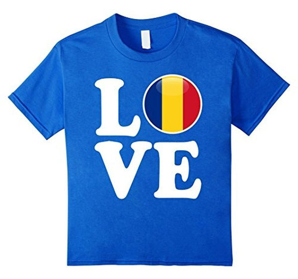 Romania Love Romania Flag Fotbal Tricou T-shirt Royal Blue / 3XL T-Shirt BelDisegno