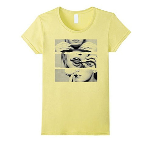 Sexy Girl Rolling Blunt T-shirt Lemon / 3XL T-Shirt BelDisegno