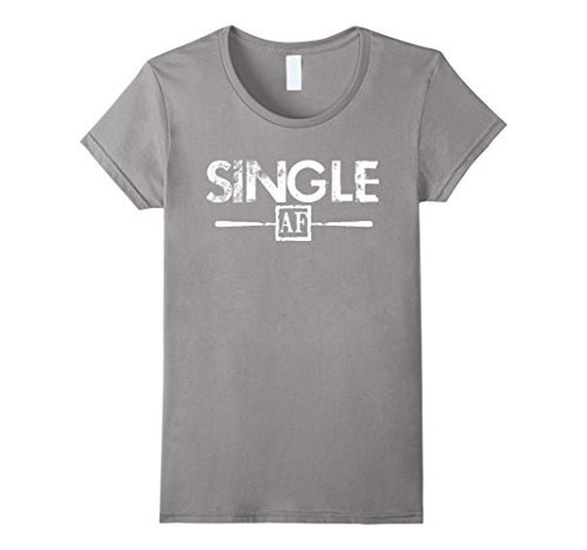 Single AF Funny Humor Meme Sarcastic Laugh As F T-shirt Heather Grey / 3XL T-Shirt BelDisegno