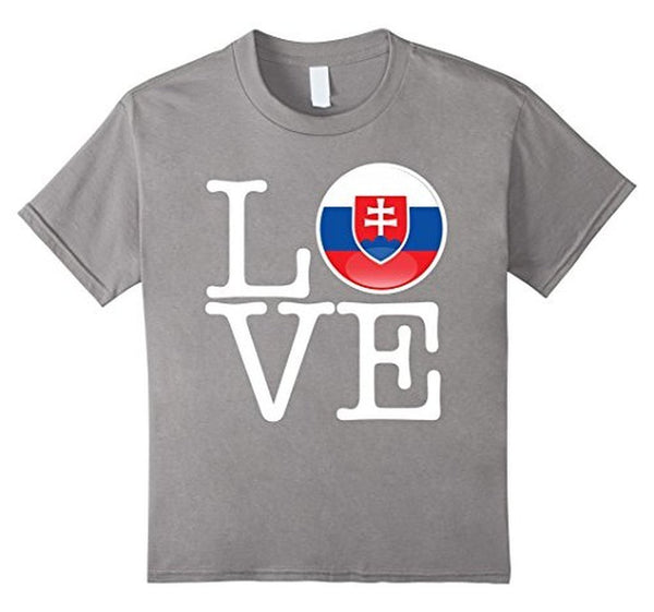 Slovakia Love Slovakia Flag Football vlajka futbal T-shirt Heather Grey / 3XL T-Shirt BelDisegno