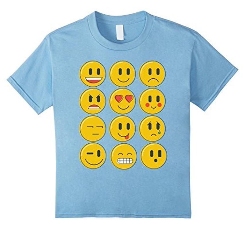 Smiley Emoticons Emoji T-shirt Baby Blue / XL / Women T-Shirt BelDisegno