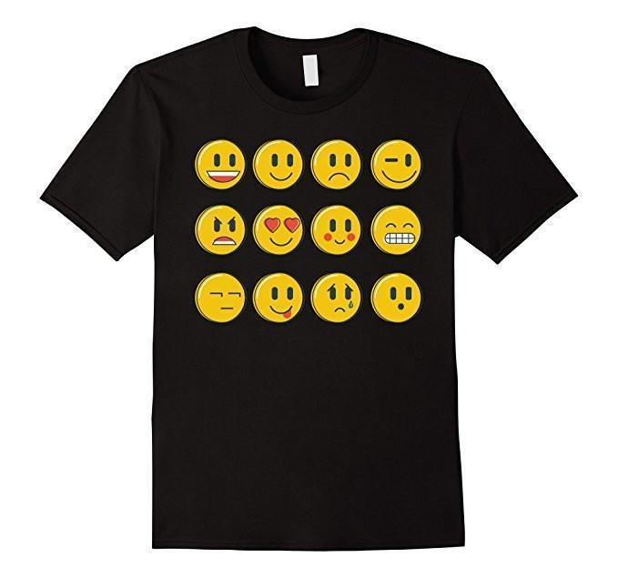 Smiley Emoticons Emoji T-shirt Black / 3XL T-Shirt BelDisegno