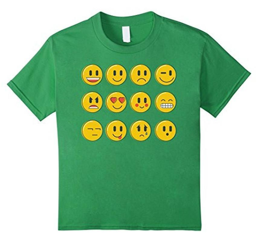Smiley Emoticons Emoji T-shirt Grass / 3XL T-Shirt BelDisegno