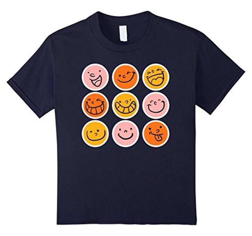 Smiley Emoticons Emoji T-shirt Navy / 3XL T-Shirt BelDisegno
