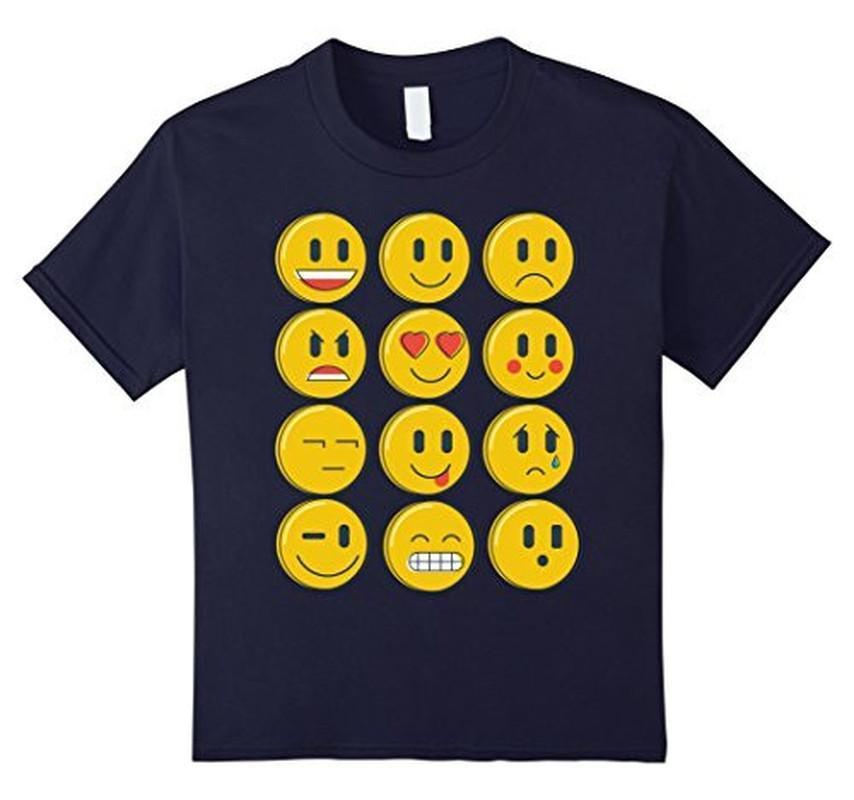 Smiley Emoticons Emoji T-shirt Navy / XL / Women T-Shirt BelDisegno