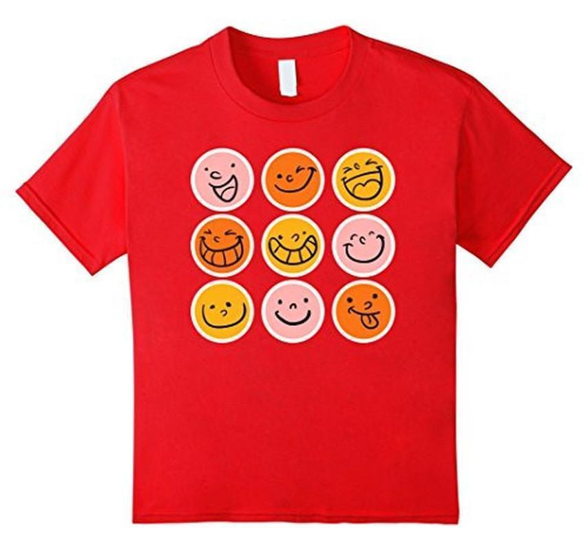 Smiley Emoticons Emoji T-shirt Red / 3XL T-Shirt BelDisegno