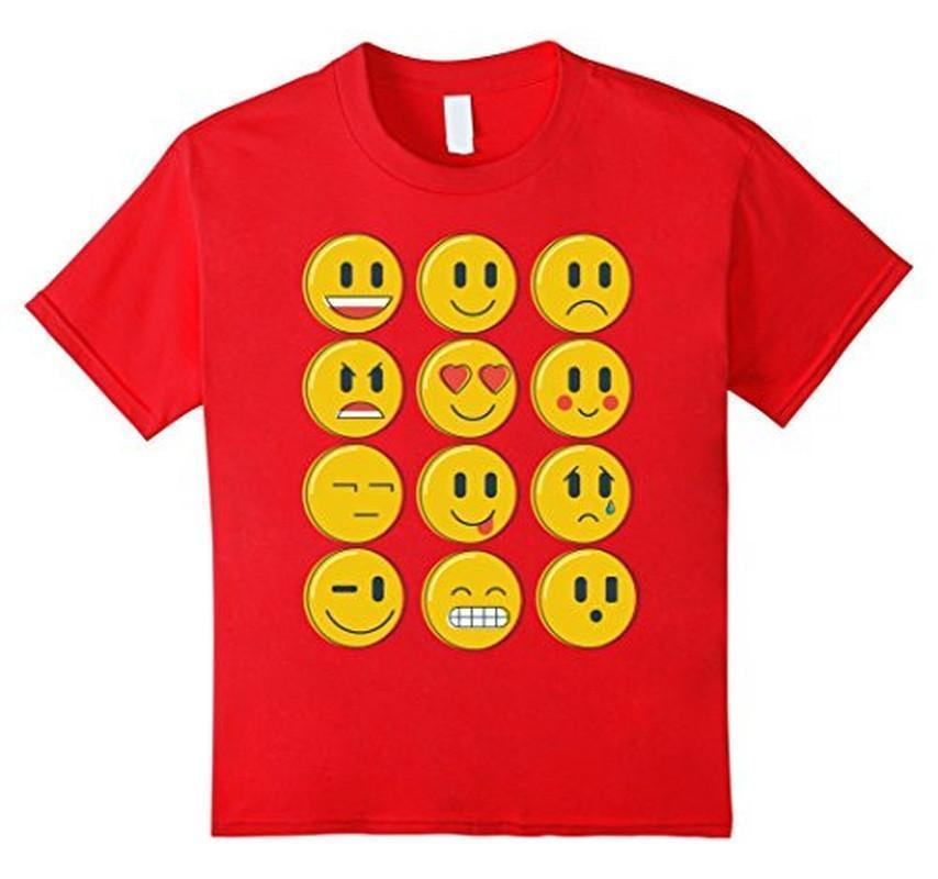 Smiley Emoticons Emoji T-shirt Red / XL / Women T-Shirt BelDisegno