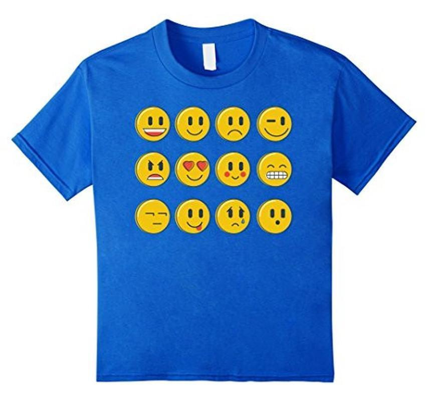 Smiley Emoticons Emoji T-shirt Royal Blue / 3XL T-Shirt BelDisegno