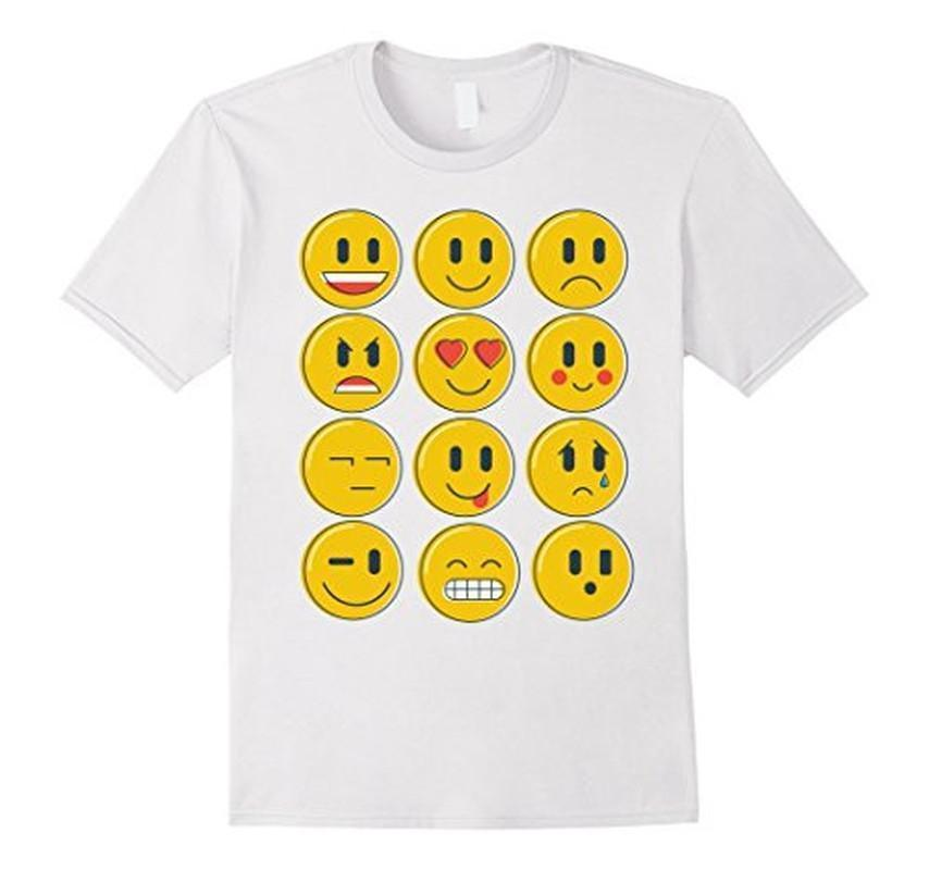 Smiley Emoticons Emoji T-shirt White / XL / Women T-Shirt BelDisegno