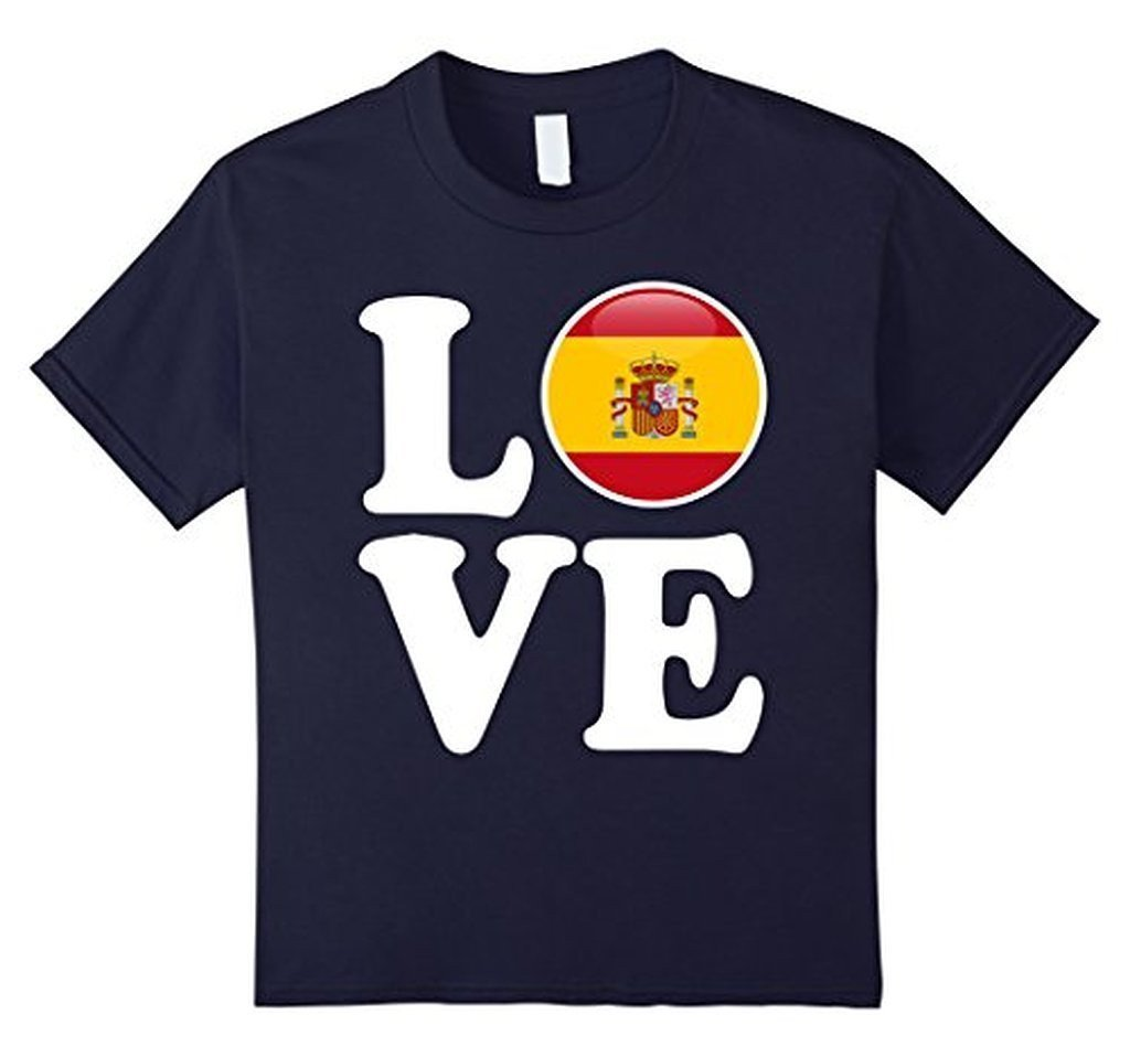 Spain Love Espana Flag Football Futbol Bandera T-shirt Navy / 3XL T-Shirt BelDisegno