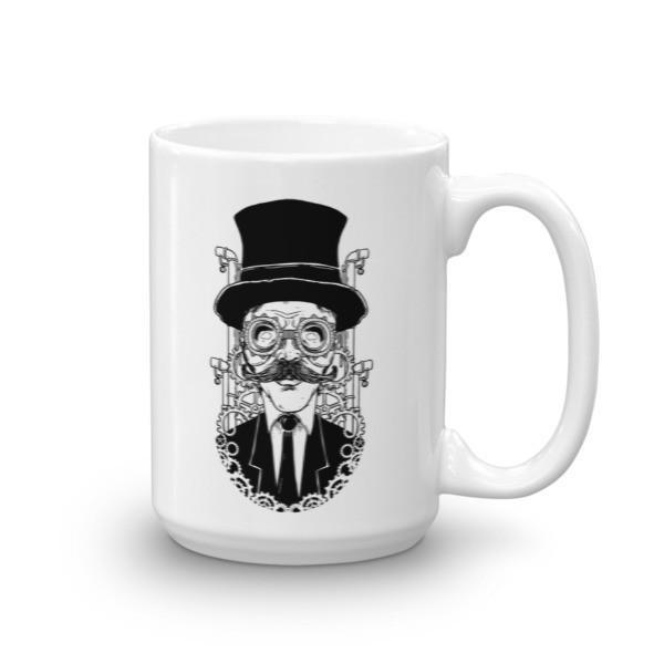 Steampunk Man Coffee Mug 15oz Mug BelDisegno