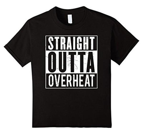 Straight Outta OVERHEAT for oeverclockers T-shirt Black / 3XL T-Shirt BelDisegno