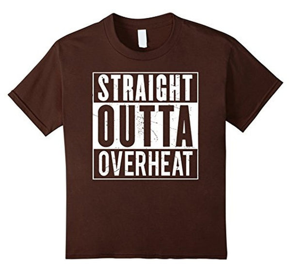 Straight Outta OVERHEAT for oeverclockers T-shirt Brown / 3XL T-Shirt BelDisegno
